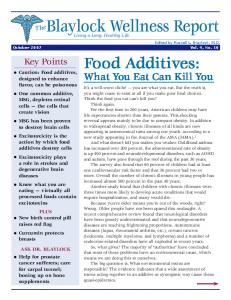 Food Additives: What You Eat Can Kill You - Newsmax