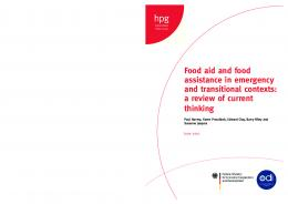Food aid and food assistance in emergency and transitional contexts ...