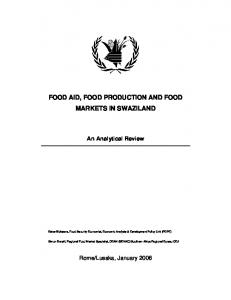 food aid, food production and food markets in swaziland - ReliefWeb