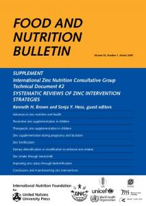 fooD aND NUTRITIoN BULLETIN