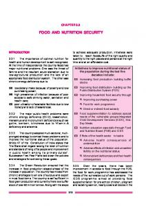 FOOD AND NUTRITION SECURITY - of Planning Commission