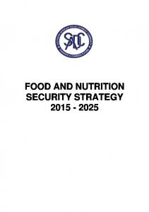 food and nutrition security strategy 2015 - 2025