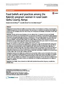 Food beliefs and practices among the Kalenjin pregnant women in ...