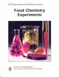 Food Chemistry Experiments - Institute of Food Technologists