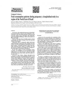 Food consumption patterns during pregnancy: a longitudinal study in a