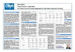 Food Culture in East Asia - EcoS