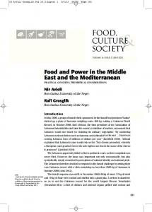 food, culture society