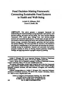 Food Decision-Making Framework: Connecting Sustainable Food ...