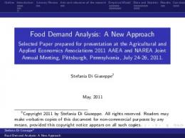 Food Demand Analysis - AgEcon Search
