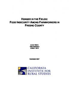 Food Insecurity Among Farmworkers in Fresno County