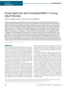 Food Insecurity and Increased BMI in Young ... - Wiley Online Library