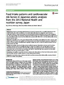 Food intake patterns and cardiovascular risk factors ... - Nutrition Journal