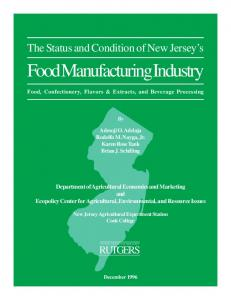 food manufacturing ws - AgEcon Search