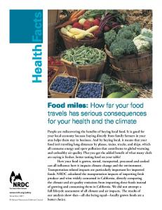 Food miles: How far your food travels has serious consequences