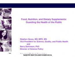 Food, Nutrition and dietary supplements: Guarding the health of the ...