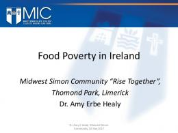 Food Poverty in Ireland