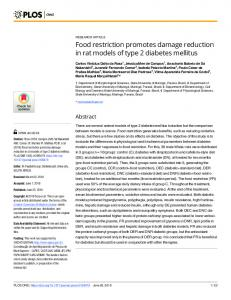Food restriction promotes damage reduction in rat models of ... - PLOS