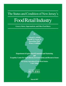 food retail ws - Rutgers University