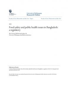 Food safety and public health issues in Bangladesh: a ... - K4Health
