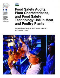 Food Safety Audits, Plant Characteristics, and Food Safety ...