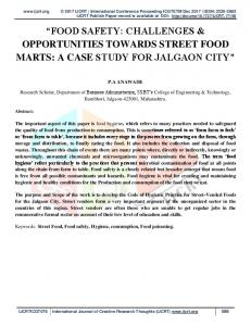 food safety: challenges & opportunities towards street ...