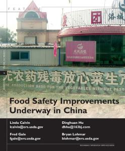 Food Safety Improvements Underway in China - AgEcon Search