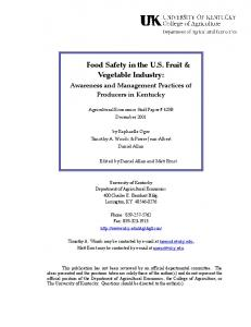 Food Safety in the US Fruit & Vegetable Industry - AgEcon Search