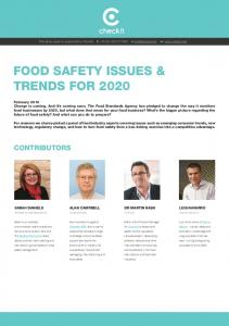 food safety issues & trends for 2020
