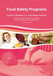 Food Safety Programs - Food Standards Australia New Zealand