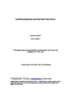 Food Safety Regulations and Global Food Trade ... - AgEcon Search