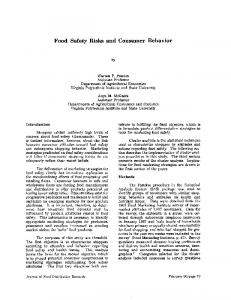 Food Safety Risks and Consumer Behavior - AgEcon Search