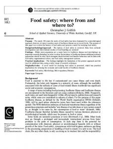 Food safety: where from and where to?
