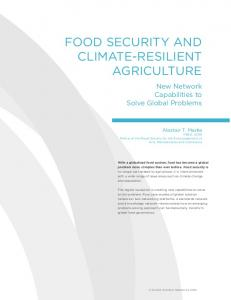 Food Security ANd climAte-reSilieNt Agriculture