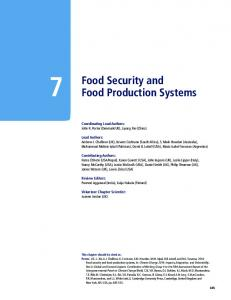 Food Security and Food Production Systems - IPCC
