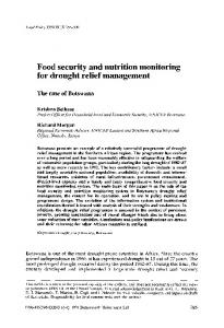 Food security and nutrition monitoring for drought ... - ScienceDirect