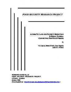 food security research project - AgEcon Search