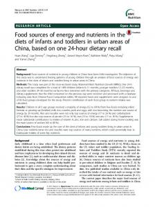 Food sources of energy and nutrients in the diets ... - Semantic Scholar