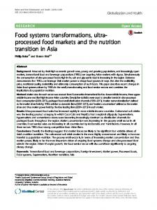 Food systems transformations, ultra-processed food ... - Springer Link