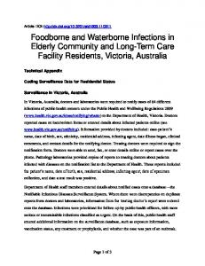 Foodborne and Waterborne Infections in Elderly Community and Long ...