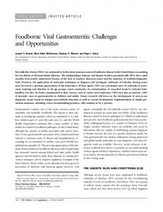 Foodborne Viral Gastroenteritis: Challenges and ... - Semantic Scholar