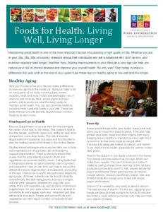 Foods for Health: Living Well, Living Longer - International Food ...