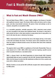 Foot & Mouth disease - OIE