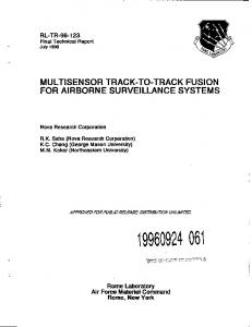 for airborne surveillance systems - Defense Technical Information ...