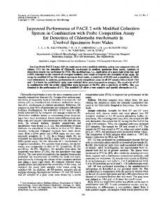 for Detection of Chlamydia trachomatis in - Journal of Clinical ...