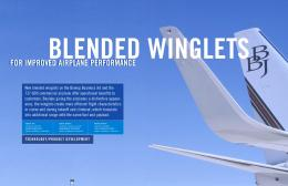 for improved airplane performance for improved airplane performance