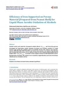 for Liquid Phase Aerobic Oxidation of Alcohols - Scientific Research