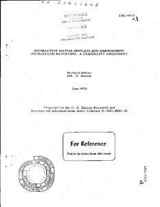 For Reference - the Publication Archive