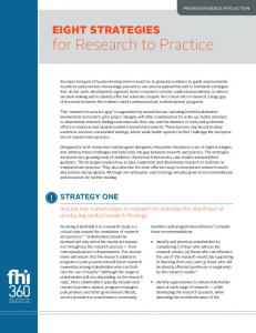 for Research to Practice - FHI 360