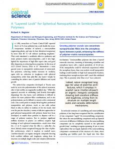 for Spherical Nanoparticles in Semicrystalline Polymers - American