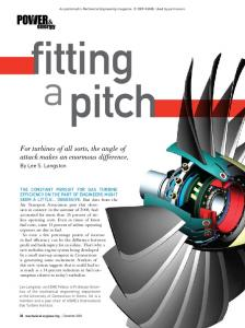 For turbines of all sorts, the angle of attack makes